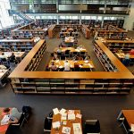 Nederland/Nijmegen:Universiteitsbibliotheek.Foto: Bert Beelen